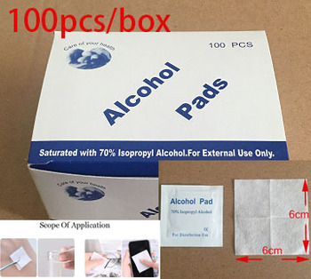 100pcs Alcohol pads 70% Isopropyl Alcohol Wet Wipes Disinfectant Wipe Skin Mobile Glasses Cleaning Care