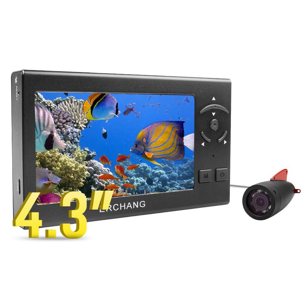 """Erchang 4,"""" 15 м 1000TVL подводная камера для подледной рыбалки 8 шт. белый светильник светодиодный рыболокатор камера для рыбалки olta kamera"""