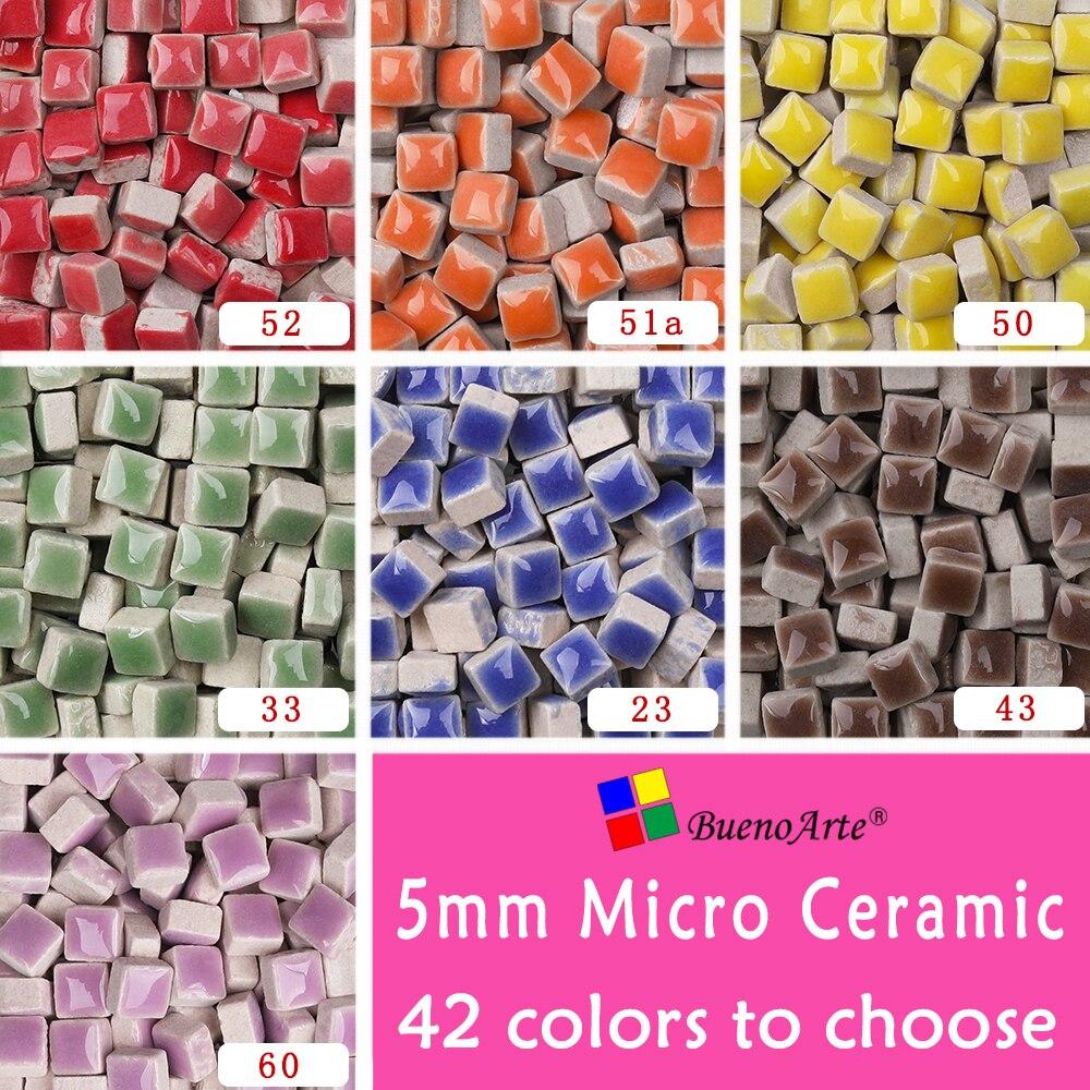 Mosaico de Micro cerámica de 5mm, grosor 3,5mm, Material para manualidades DIY. DIY Mini tessera de mosaico de porcelana pequeña