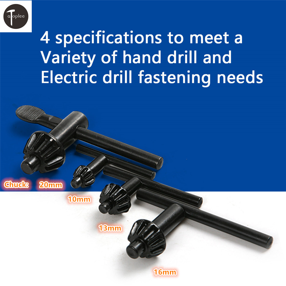 1 PCS 10mm 13mm <font><b>16mm</b></font> 20mm Chuck Diameter Tools Drill Chuck <font><b>Wrench</b></font> For Electric Drill Clamping Tool image