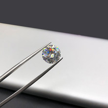 1 Buah 6 Mm 0.8ct GH Longgar Warna Moissanite Round Cut Lab Tumbuh Moissanite Terbukti Positif Berlian Longgar Permata Batu(China)