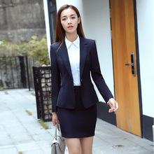 Odzież damska profesjonalna spódnica OL z długimi rękawami garsonka slim recepcja wywiad kasjer mundurek roboczy OL tanie tanio CN (pochodzenie) COTTON WOMEN