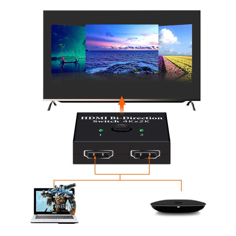 4K UHD HDMI Splitter HDMI Switch Switcher 1X2 2X1 Split 1 in 2 Out Amplificatore 1080P 4K x 2K HDMI Switcher 2 Porte Bi-direzionale