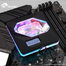 인텔 lga1150/1151/1155/1156 용 bykski cpu 워터 블럭 사용 A RGB 오라 라이트/온도 디스플레이 oled/10 주년 기념 블록