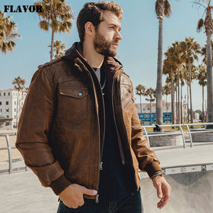 Image 4 - Mens Real Leather Jacket Men Motorcycle Removable Hood winter coat Men Warm Genuine Leather Jackets