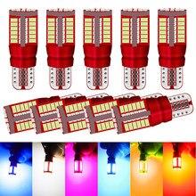 Um pacote w5w t10 lâmpadas led 57smd 4014 branco 12v led estacionamento posição luzes interior mapa luzes cúpula para honda ford toyota kia