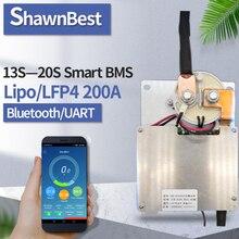 الذكية bms 200a ليثيوم أيون وحدة بلوتوث LFP4 13s 14s 15s 16s 17s 18s 19s 20s LiFePo4 بطارية ليثيوم أيون حزمة pcm