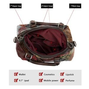 Image 2 - WESTAL damska torba 2020 torba na ramię dla kobiet prawdziwej skóry luksusowe torebki damskie torebki projektant kwiatowy skórzana torebka damska