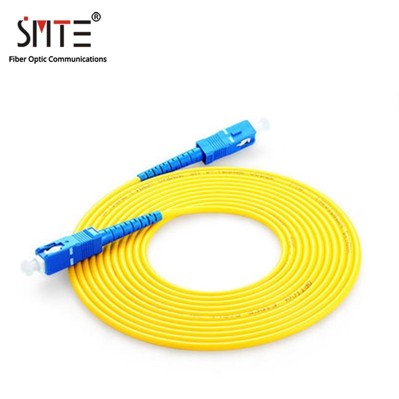 10Pcs/Lot SC/APC-APC 1 to 20 Meters Optical Patch Cord Cable  3.0mm PVC Fiber Jumper Simplex SM FTTH