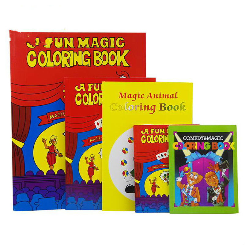 Small/Medium/Large Size Magic Coloring Book Funny Magic Tricks Close Up Magia Book Magie Mentalism Illusion Gimmick Props