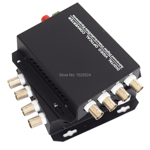 Image 4 - 1 Pair 2 Pieces/lot 4 Channel Video Optical Converter 4V1D Fiber Optic Video Optical Transmitter & Receiver 4CH +RS485 Data