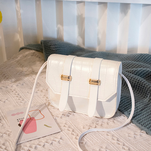 2020 Fashion Trend Women Alligator Grain Shoulder Bag Mini PU Crossbody Adjustable Magnetic Buckle Cellphone Handbags Purse