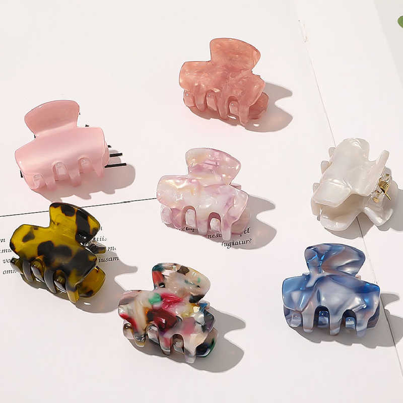 Details about  /Chic Geometric Acetate Acrylic Hair Clip Hair Clamp Ponytail Hair Claws Barrette