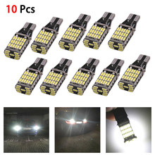 10 pces carro turn signal lâmpada led canbus 6000k branco 45 smd 4014 livre de erros led t15 w16w reverso carro volta lâmpada