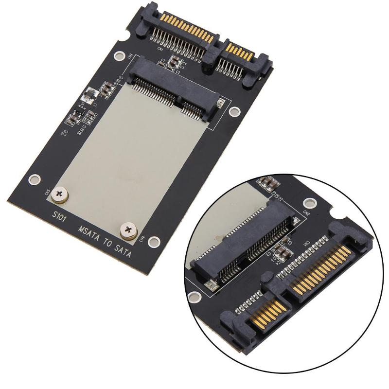 VKTECH <font><b>mSATA</b></font> SSD to 2.5 inch <font><b>SATA</b></font> Converter <font><b>Adapter</b></font> Card Solid State Drive SDD Hard Disk <font><b>Adapter</b></font> For Windows2000/XP/7/8/10 Mac image