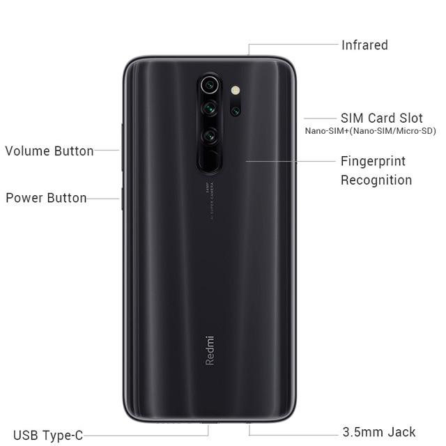 "Global ROM Xiaomi Redmi Note 8 Pro 6GB 128GB 64GB Smartphone 64MP Quad Camera Helio G90T Octa Core 6.53"" Screen 4500mAh NFC"