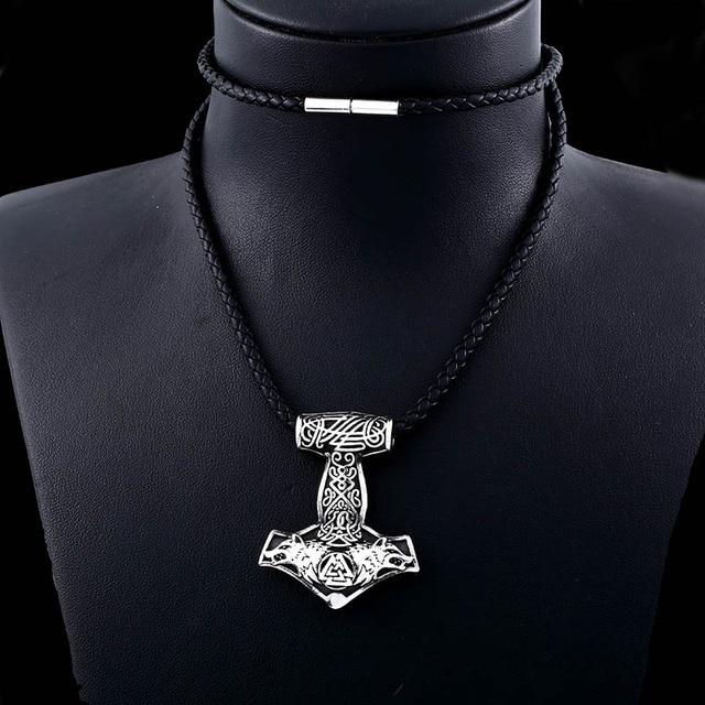 Collier acier inoxydable Viking ancre marine 5