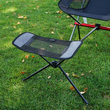 Cadeira ao ar livre retrátil apoio para os pés portátil dobrável bolso cadeira mochila praia pesca cadeiras de acampamento pé resto