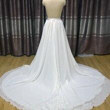 Chiffon Wedding Skirt Train Bridal Wedding Overskirt bride Skirt Train, Removable applique Skirt Train custom size bridal skirt