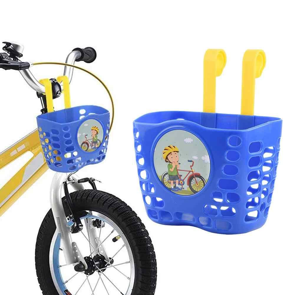 children/'s bike basket plastic bicycle bag kids scooter handle bar basket TK ON