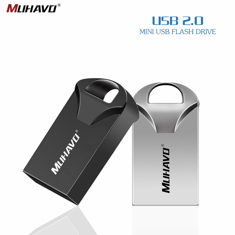 Super MINI Waterproof Usb Flash Drive 128GB 32GB Pendrive 64GB Flash Drive Metal Pen Drive 16gb 8gb 4gb Storage Usb Stick 2.0