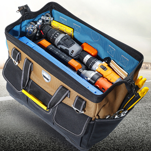 Image 5 - Tool Bag Portable Electrician Bag Multifunction Repair Installation Canvas Large Thicken Tool Bag Work Pocket