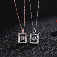 925 Sterling Silver Beating Heart Perfume Bottle Crystal Pendant Clavicle Chain Necklace For Women Wedding Party Dress Jewelry недорого