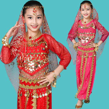 Girl Bollywood Indian Belly Dance Performance Clothes