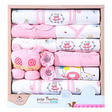 18 piece/lot Newborn Baby Girl Clothes Sets 100% Cotton Infant Baby Girl Set Soft Autumn Baby Boys Clothing Toddler Baby Hat Bib
