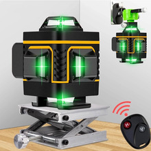 Laser-Level Battery Wall-Bracket 16-Lines Vertical-Cross-Lines Remote 4D Green 360-Horizontal