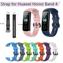 Silicone Wrist Strap for Huawei Honor Band 4 Standard Smart Wristband Bracelet 5 Sport Watchband Replacement