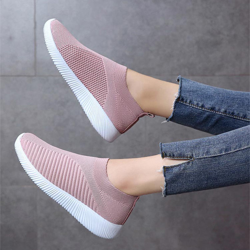 Summer Sports Shoes Women Sneakers 2020 Flat With Mesh Casual Shoes Woman Outdoor Slip-on Solid Running Shoes Women White Shoes