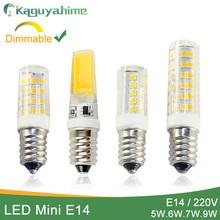 Kaguyahime Dimmable Mini Ceramics COB E14 LED Bulb Light 220V Led Lamp E14 5W 6W 7W 9W Candle Spotlight Lampada Ampoule Bombilla cheap CN(Origin) Warm White (2700-3500K) 2835 living room 220V 185~240V 250 - 499 Lumens 50000 0 28m LED Bulbs Corn Bulb ROHS
