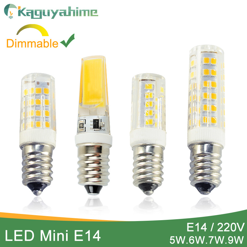Kaguyahime Dimmable Mini Ceramics COB E14 LED Bulb Light 220V Led Lamp E14 5W 6W 7W 9W Candle Spotlight Lampada Ampoule Bombilla