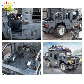 """Конструктор HUIQIBAO """"Военный грузовик"""", 544 шт. 4"""
