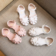 Summer Sandals Children Girls Shoes Infant Children Kid Baby Girls Solid Casual Roman Shoes Bowknot Sandals Princess Shoes 2020(China)