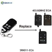 ECA ガレージゲートコントローラハンドヘルドトランスミッターと互換性 ECA 433.92 433mhz のリモートコントロールローリングコードガレージコマンド
