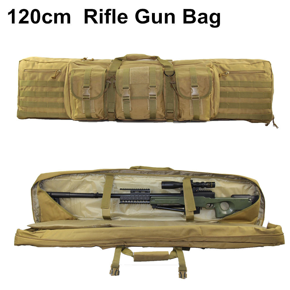 47'' 120cm Military Rifle Gun Bag Case Molle Pouch Tactical Shoulder Pack Airsoft Rifle Hunting Molle Bag Hand Carry Pack