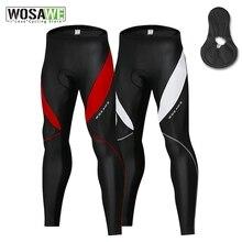 WOSAWE Мужские велосипедные колготки, гелевые штаны с подкладом для горного велосипеда, зимние термобелье для горного велосипеда, велосипедны...