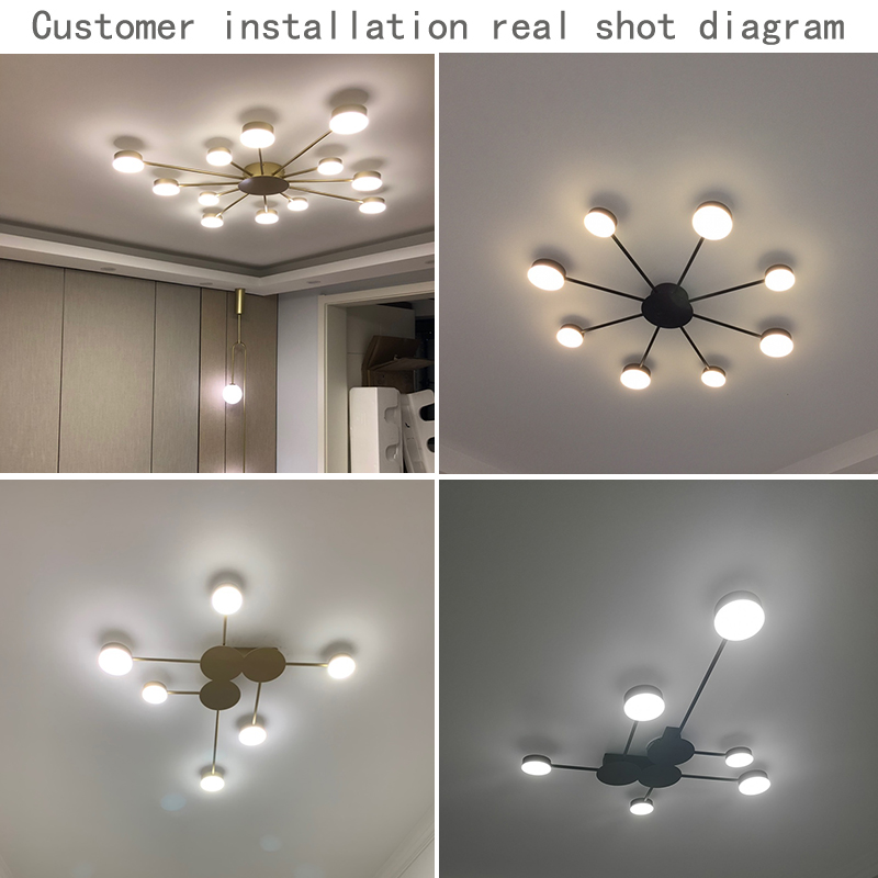 cheapest Smart  Music LED ceiling Lights RGB Dimmable  36W 52W 72W APP Remote control Modern Bluetooth light  bedroom lamps ceiling lamp