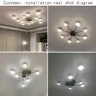 Novo led lustre para sala de estar quarto casa lustre por sala moderna conduziu a lâmpada do teto lustre iluminação - 3