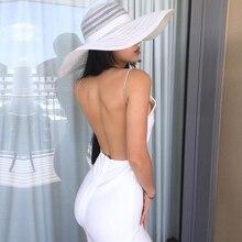 Adyce 새로운 여름 Bodycon 클럽 붕대 드레스 여성 섹시한 Backless Strapless 스파게티 스트랩 연예인 저녁 활주로 파티 드레스