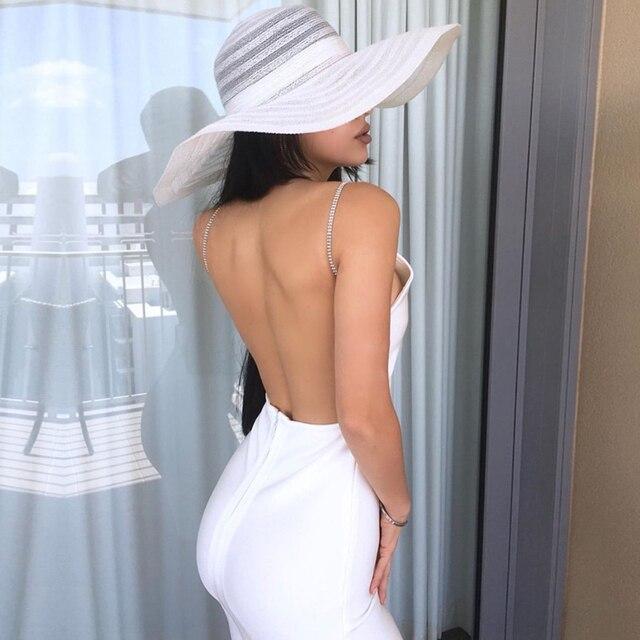 Adyce فستان صيفي جديد للنساء بحمالات ضيقة وضيقة للنادي فستان مثير بدون حمالات بحمالات رفيعة للمشاهير والمساء والحفلات