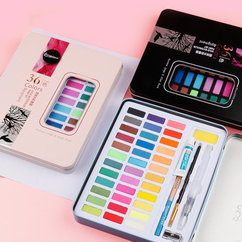 Coloffice 36/48 Colors Solid Watercolor Paint Set Art Supplies Student Painting Stationery High Quality Fine Gift for Kids 1Set original south korean high quality very good wcs 103water colors 24 colors 7 5 ml watercolor oil paint