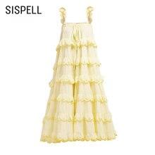 Женское платье без рукавов sispell повседневное свободное лоскутного