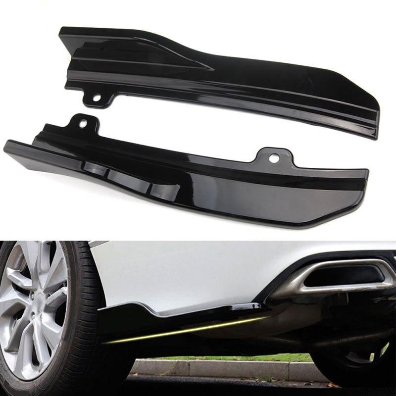 Car Accerories For Honda/Accord 2018 Black ABS Car Rear Bumper Skirt Spoiler Lip Side Wing Trim
