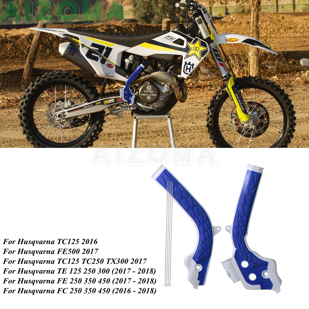 Enduro Motocross X-Grip Frame Guard Protection Cover For <font><b>KTM</b></font> Husqvarna TX300 <font><b>2017</b></font> TE TC FE FC 125 250 300 350 <font><b>450</b></font> 500 2016-2018 image