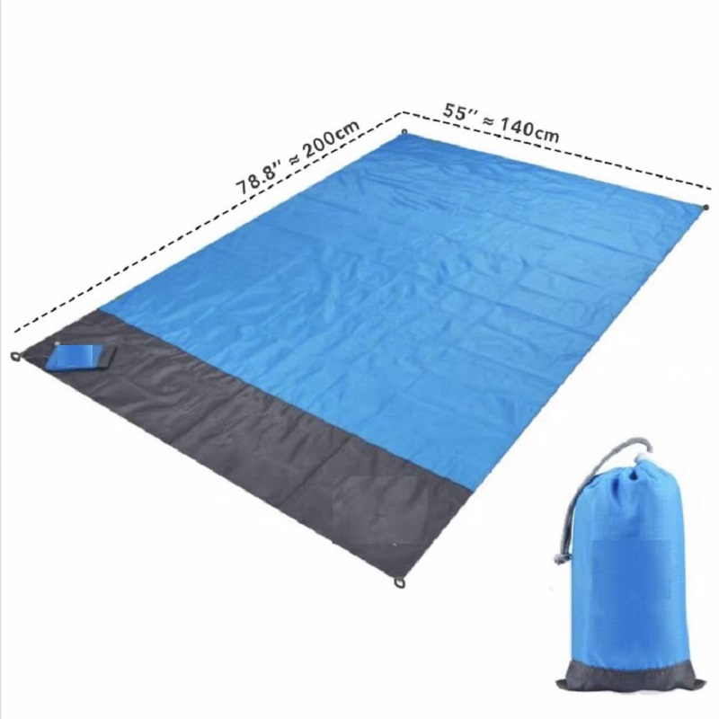 JOYLIVE Folding Camping Mat Portable Lightweight Outdoor Picnic Mat Sand Beach BlanketSand  Waterproof Pocket Beach Mat