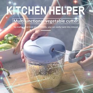 Multifunction Easy Use High Speedy Design Vegetable Fruit Twist Shredder Manual Meat Grinder Chopper Garlic Cutter Kitchen Tools