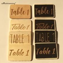 30 soportes de números de madera para mesas blanco boda rústica Shabby Chic/Vintage/tipografía personalizada/números de madera mesas Baby Shower